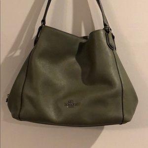 Green Coach Hobo Bag